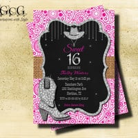 Sweet 16 Invitation Printable Sweet sixteen Invitation 16th birthday invitation Birthday Invitations for girl Teen Birthday Invitation