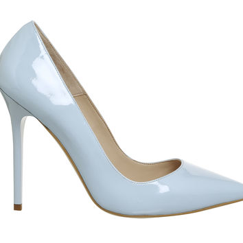 Office On To Point Courts Light Blue Patent Leather - High Heels