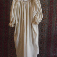 Plus size Medieval unbleached cotton muslin chemise to wear under a skirt and bodice or under dress.