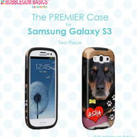 CUSTOM iPhone 5 5S 5C 4s 4 Samsung Galaxy s3 siii Phone Case - Dog Pet Photo Picture - Monogram Personalized