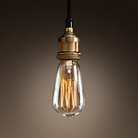 Bare Bulb Filament Single Pendant