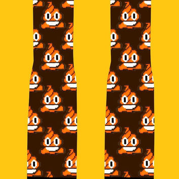 Orange Poop Emoji Socks