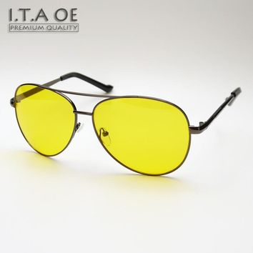 ITAOE Night Driving Vision Special Usage Sunglasses Anti High Car Beam Light Men Male Eyewear Frames Glasses Spectacles