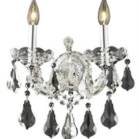Karla - Wall Sconce (2 Light Traditional Crystal Wall Sconce) - 2381W2