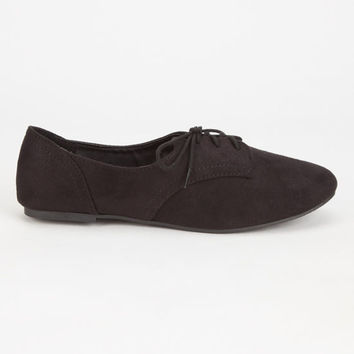 Soda Faux Suede Womens Oxford Shoes Black  In Sizes