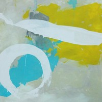 "Nick Brock Antiques - Current Inventory: ""Zero Sum"" abstract painting by Paul Ashby 2012"
