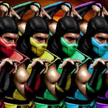 Mortal Kombat male ninjas video game poster