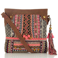 Rhiad Embellished Mirror Tassel Bag | Multi | Accessorize