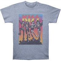 KISS Men's  Vintage Destroyer Slim Fit T-shirt Athletic Heather