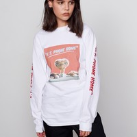 Aymmy In the Batty Girls E.T Phone Home T-shirt White