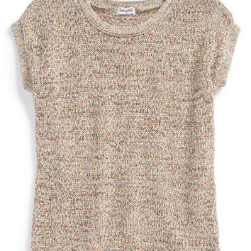 Girl's Splendid Knit Short Sleeve Sweater