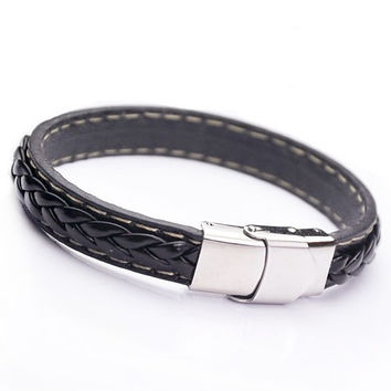 Awesome Stylish Great Deal Gift Hot Sale New Arrival Shiny Titanium Stainless Steel Men Accessory Ring Bracelet [6526723907]