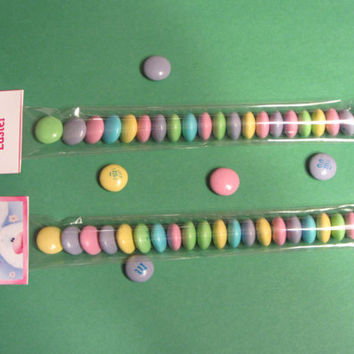 EASTER BUNNY STICKS-M&M,bag topper,Easter favor,party favor,bags included