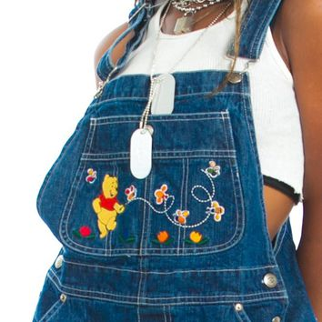Vintage 90's Winnie the Pooh Busy Bee Overalls - One Size Fits Many