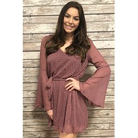 Back & Better Dress- Mauve