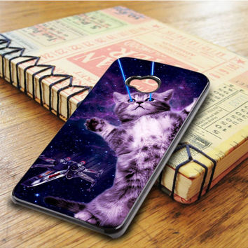Laser Kitty Space HTC One M7 Case