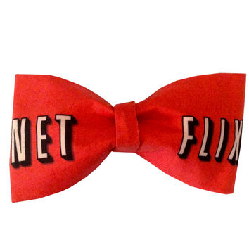 Netflix Inspired TV Hair Bow or Bow Tie Geeky Fabric Bow