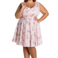 Hell Bunny Plus size Forest Fairy tale Victorian Deery Me Pink Party Dress