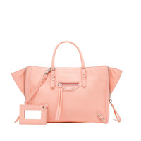Balenciaga Papier A6 Zip Around Rose Ballerine - Women's Papier ZA Handbag