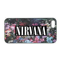 cute nirvana, floral design, iphone 4 Case, iphone 4S,iphone 5 case ,samsung galaxy S3 case,samsung S4 case,note 2 case