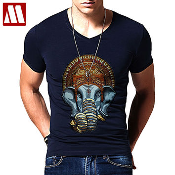 Summer Ganesh T-Shirt elephant-headed Hindu god Ganesha amazing unisex print funny tee women men summer t shirt tops