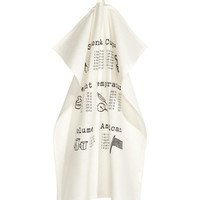 H&M Printed Tea Towel $4.99