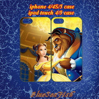 iphone 4 case,iphone 4s case,iphone 5 case,ipod touch 4 case,ipod touch 5 case--Best Friends,beauty and the beast,cute iphone 5 case.