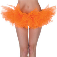 neon orange tutu-one size