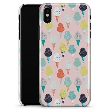 The All Over Pink Ice Cream Cone Pattern - iPhone X Clipit Case