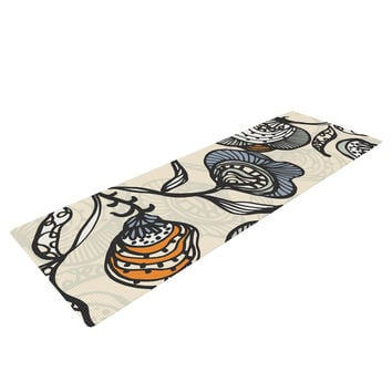 "Gill Eggleston ""Future Nouveau"" Tan Floral Yoga Mat"