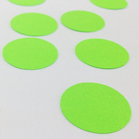 "100 Neon Green Confetti - 1 Inch - 1"" - Confetti for weddings, birthdays, parties and more!"
