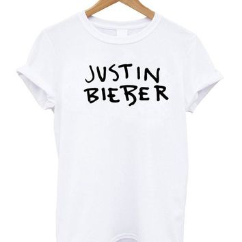 Free Shipping Fashion Clothing T-Shirt Summer Styler Women Men Tees t shirt Justin Bieber Crew-neck Tshirt Beiber Tshirt