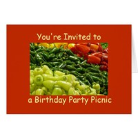 Hot Peppers Birthday Party Picnic Invitation