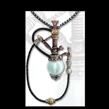 Steampunk Holmes-Baker Patent Kinetic Nargile Pendant Necklace