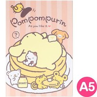 Apple apple pudding A5 notebook pancake ☆ Sanrio cute stationery series ★ black cat DM service is possible