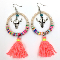 Bull Tassel Earrings