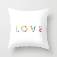 LOVE Throw Pillow by cooledition