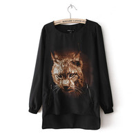 Tiger Print Long Sleeve T-Shirt