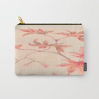 Japanese Maple Leaves Carry-All Pouch by PureVintageLove