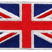 British Union Jack Embroidered Patch England Flag UK Great Britain Iron-On Emblem