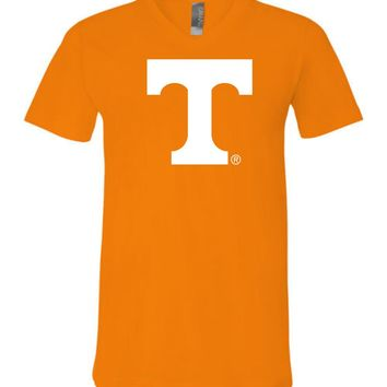 Official NCAA University of Tennessee Volunteers, Knoxville Vols UT UTK Women's White Unisex V-Neck T-Shirt - 29TN-1