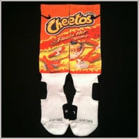 Flamin' Hot Cheetos Custom Nike Elite Crew Socks  by IconicCases