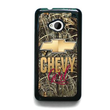 CAMO CHEVY GIRL HTC One M7 Case Cover