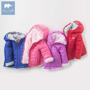 DB6181-N dave bella winter unisex baby boys girls fashion Jackets toddler Hooded outerwear children hight quality clothes