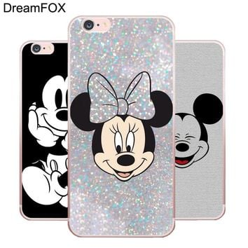 DREAMFOX L136 Cute Fashion Mickey Mouse Soft TPU Silicone  Case Cover For Apple iPhone X XR XS Max 8 7 6 6S Plus 5 5S SE 5C 4 4S