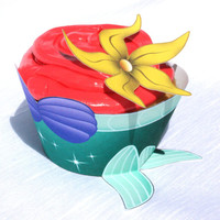 Little Mermaid - Inspired Cupcake Wrapper (Instant Download)