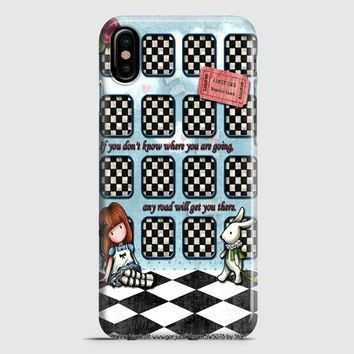 Alice And Wonderland Party iPhone X Case