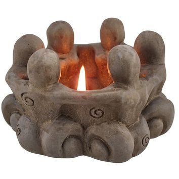 Goddess Circle Ceramic Tea Light Candle Holder