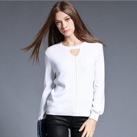 New Autumn and Winter O-neck slim women knitted sweaters and pullover