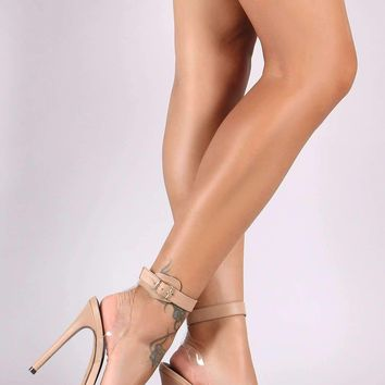 Liliana Ankle Strap Open Toe Stiletto Heel